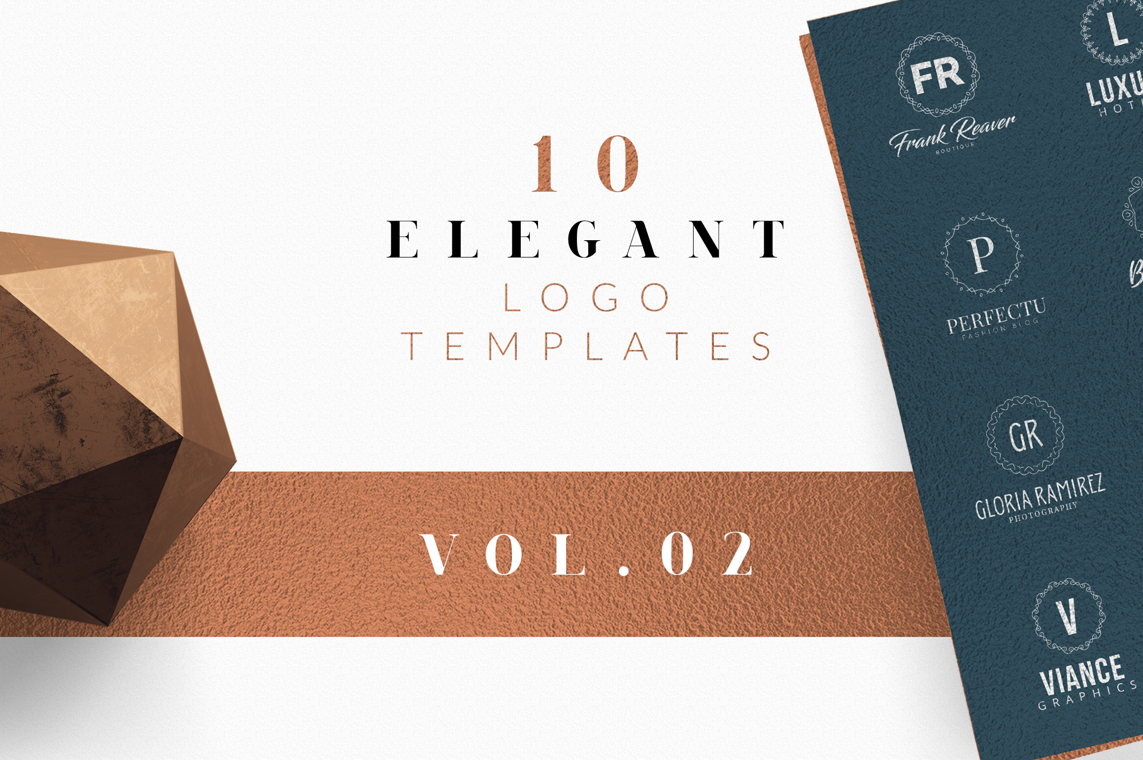 10 Elegant Logo Templates Vol.02 example image 1