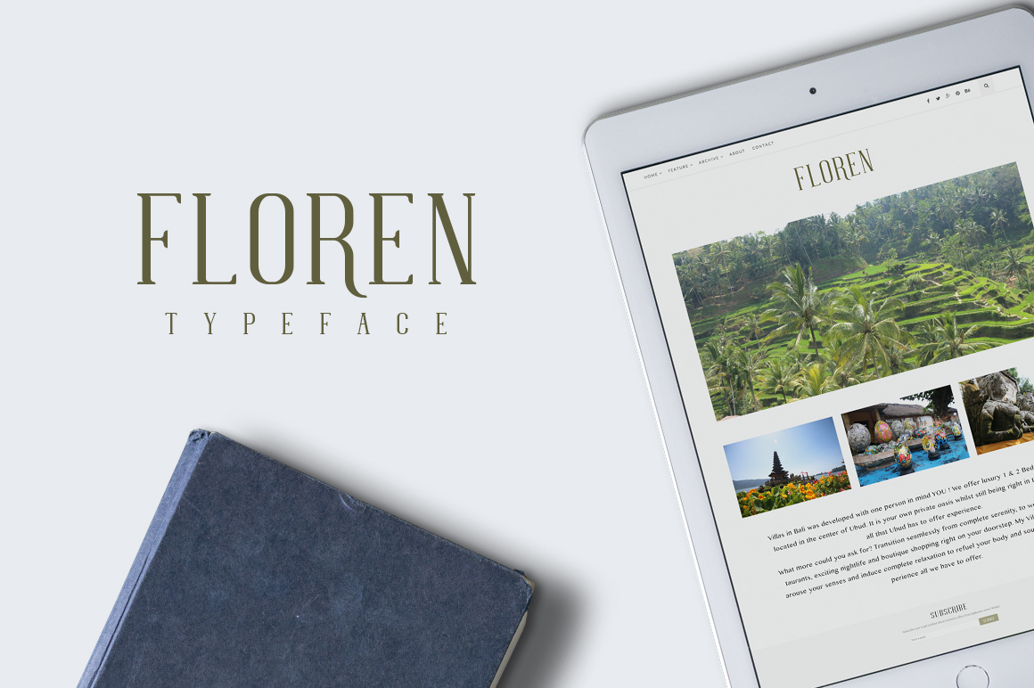 FLOREN TYPEFACE example image 4