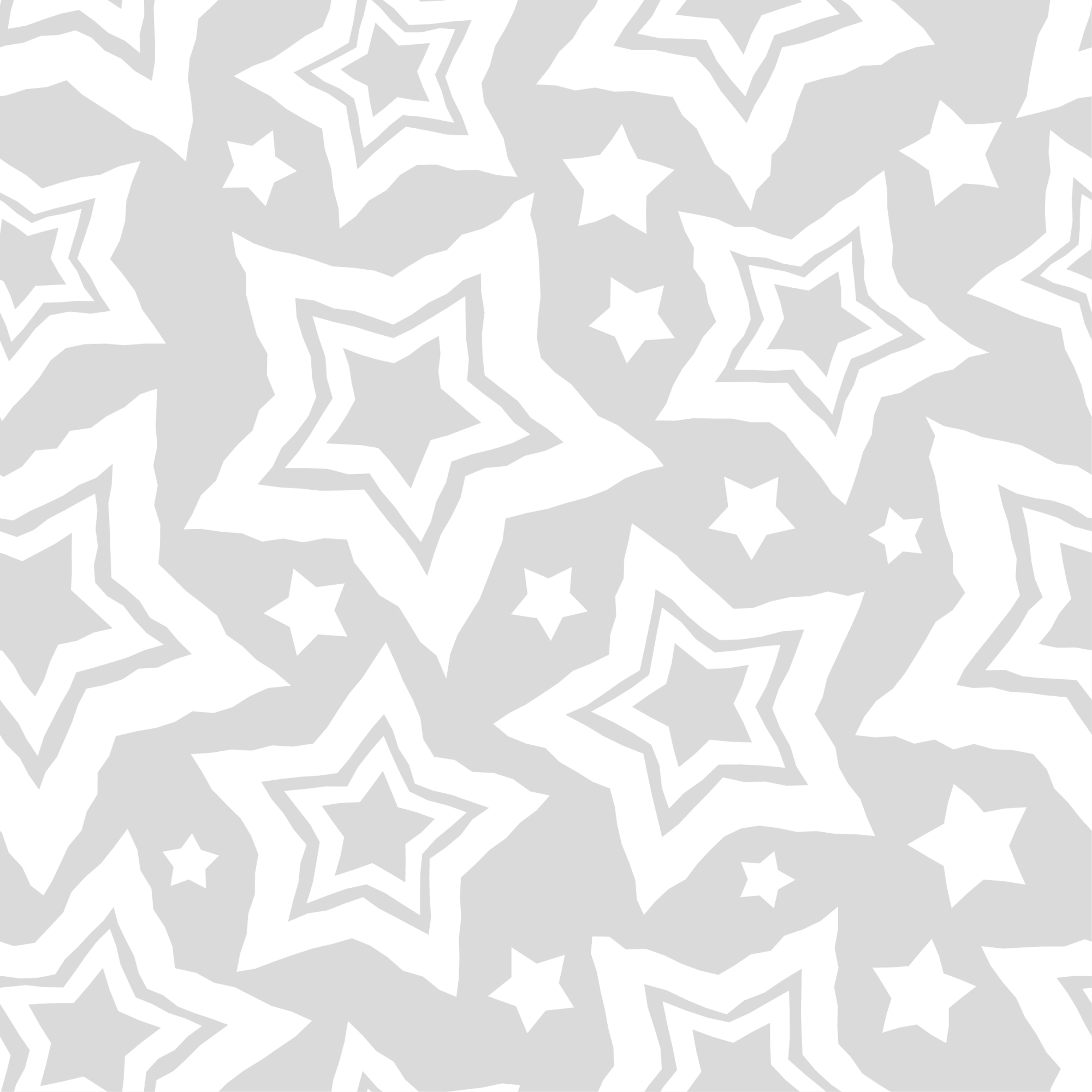 Set of 12 seamless vector backgrounds with decorative stars.  example image 4