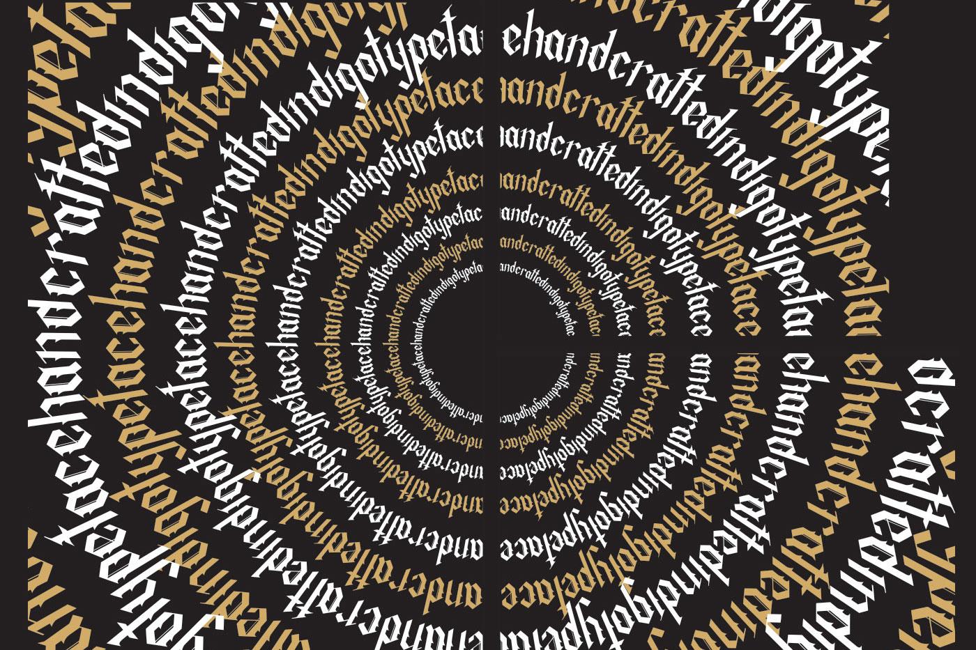 Indigo handcrafted typeface example image 4