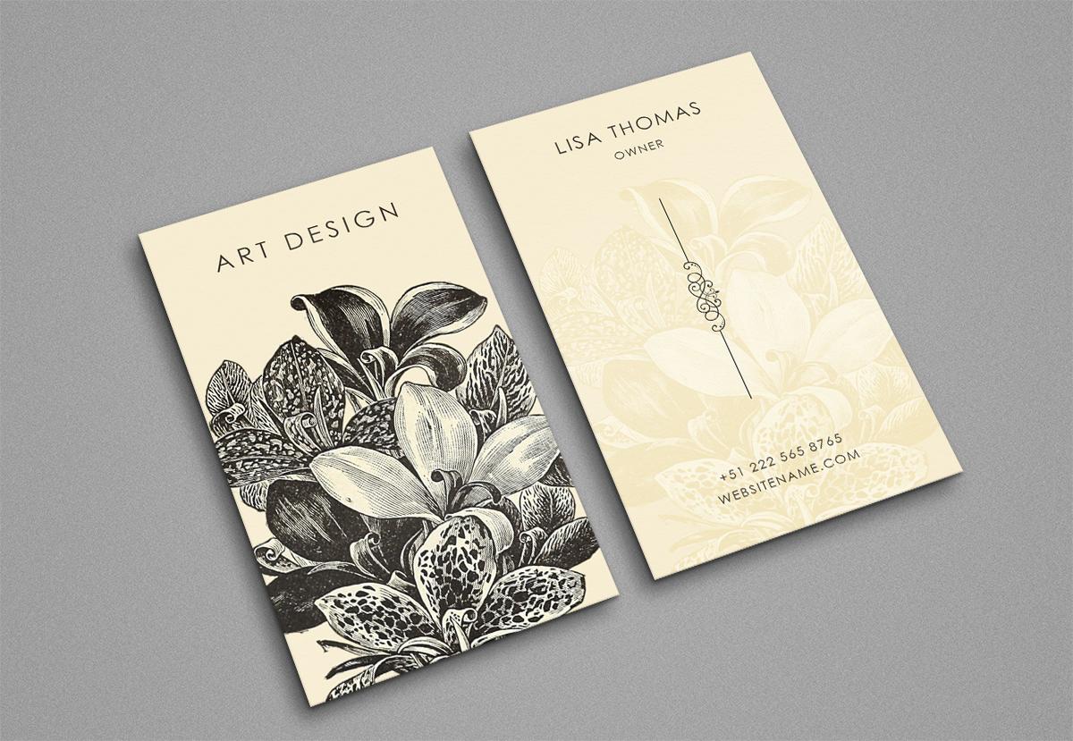 Beautiful creative art business Card example image 1