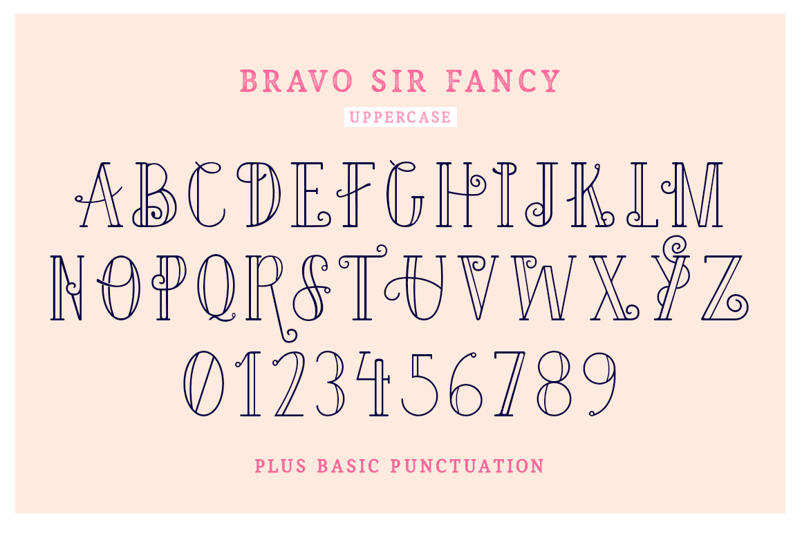 Bravo Sir Font Family example image 5
