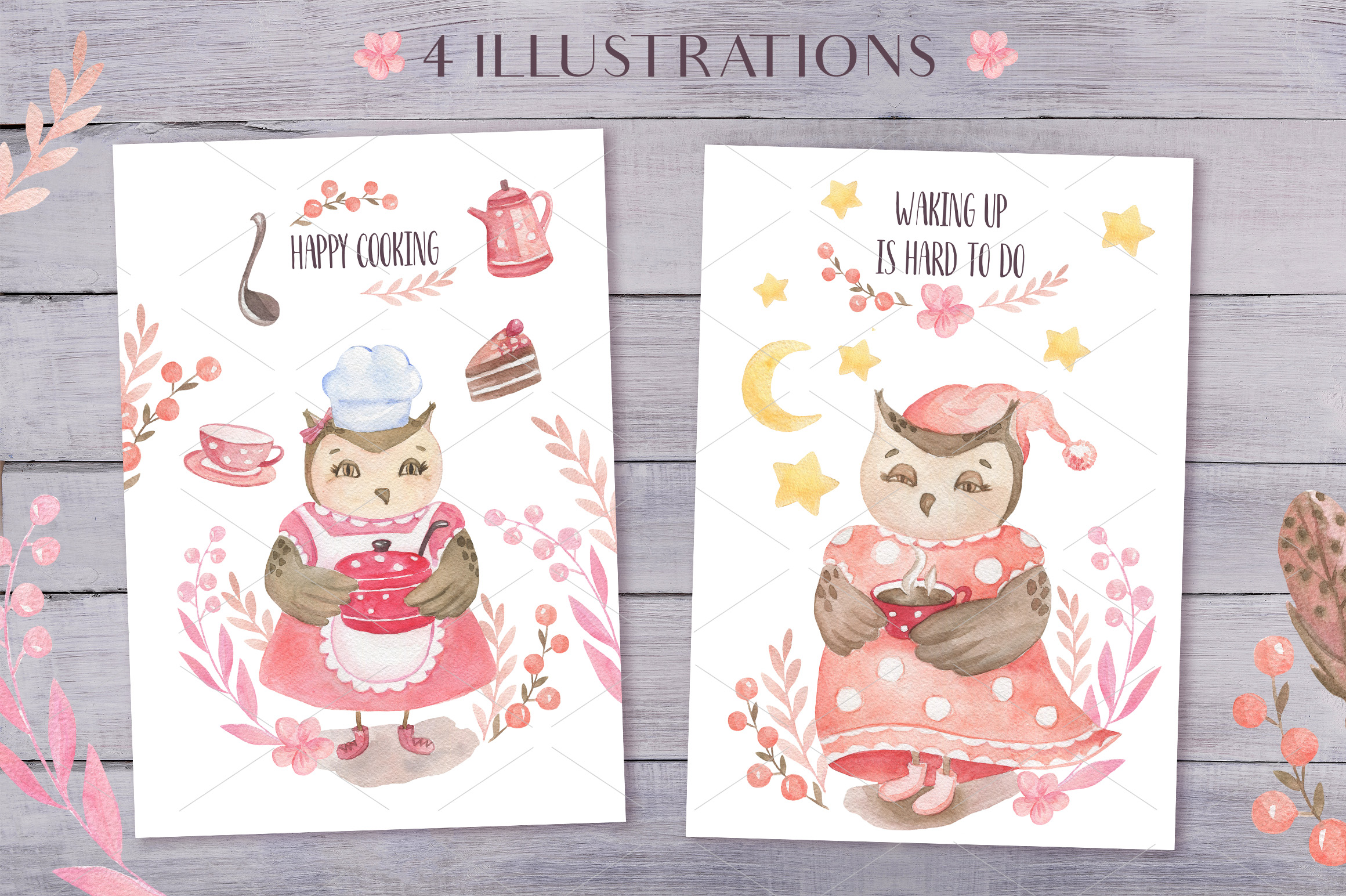 Cute Owls Collection example image 5