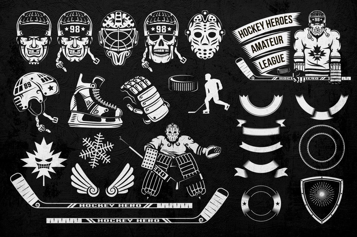 Hockey Logo on Dark example image 5