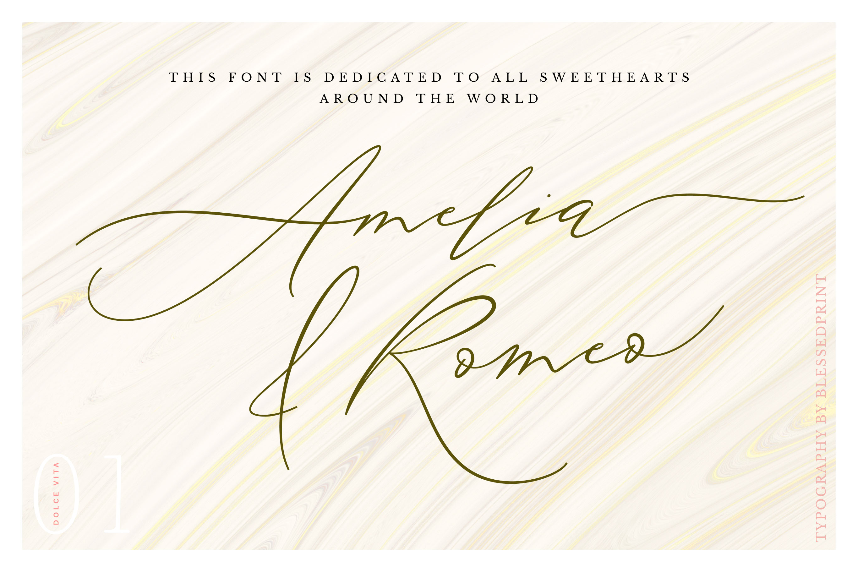 DolceVita - luxury font family with 50 ligatures example image 10