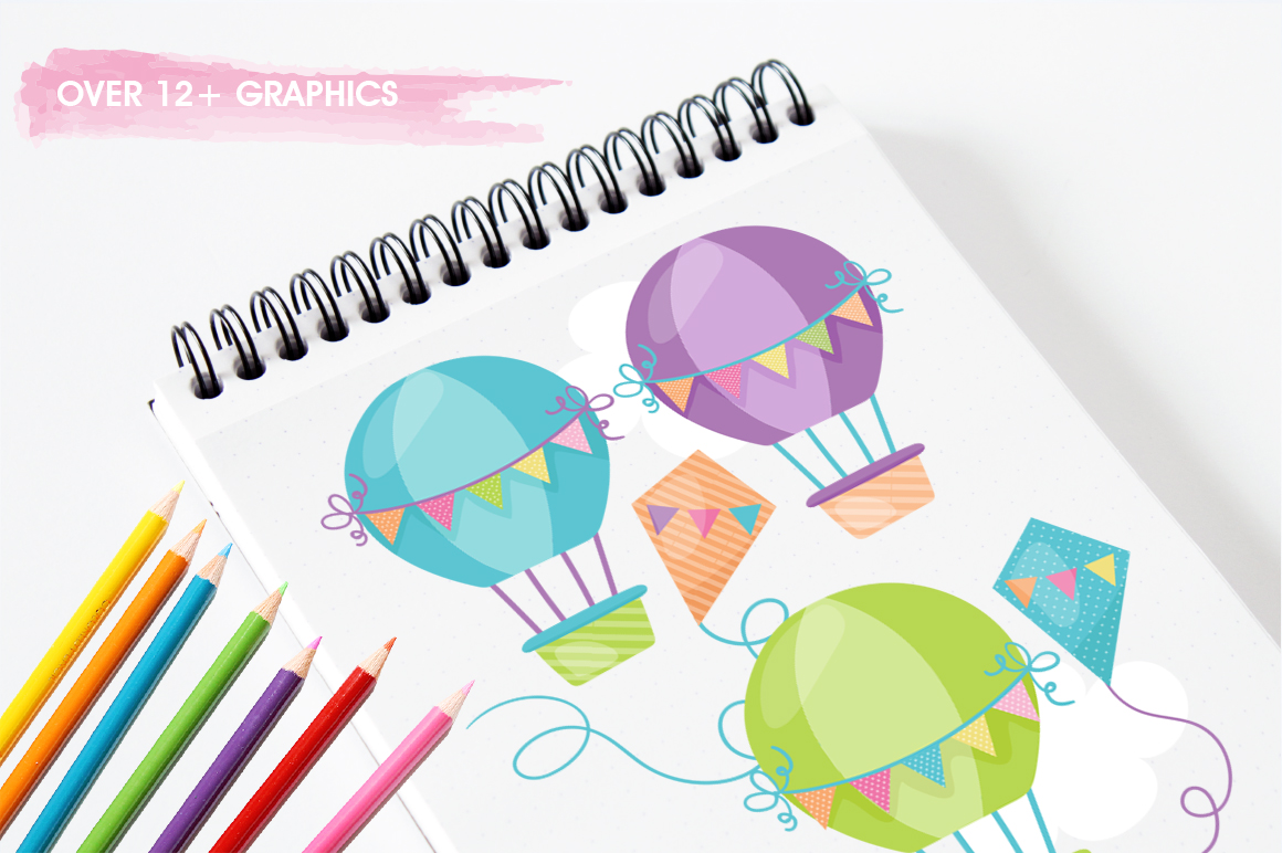 Hot Air Balloon graphic and illustrations example image 5