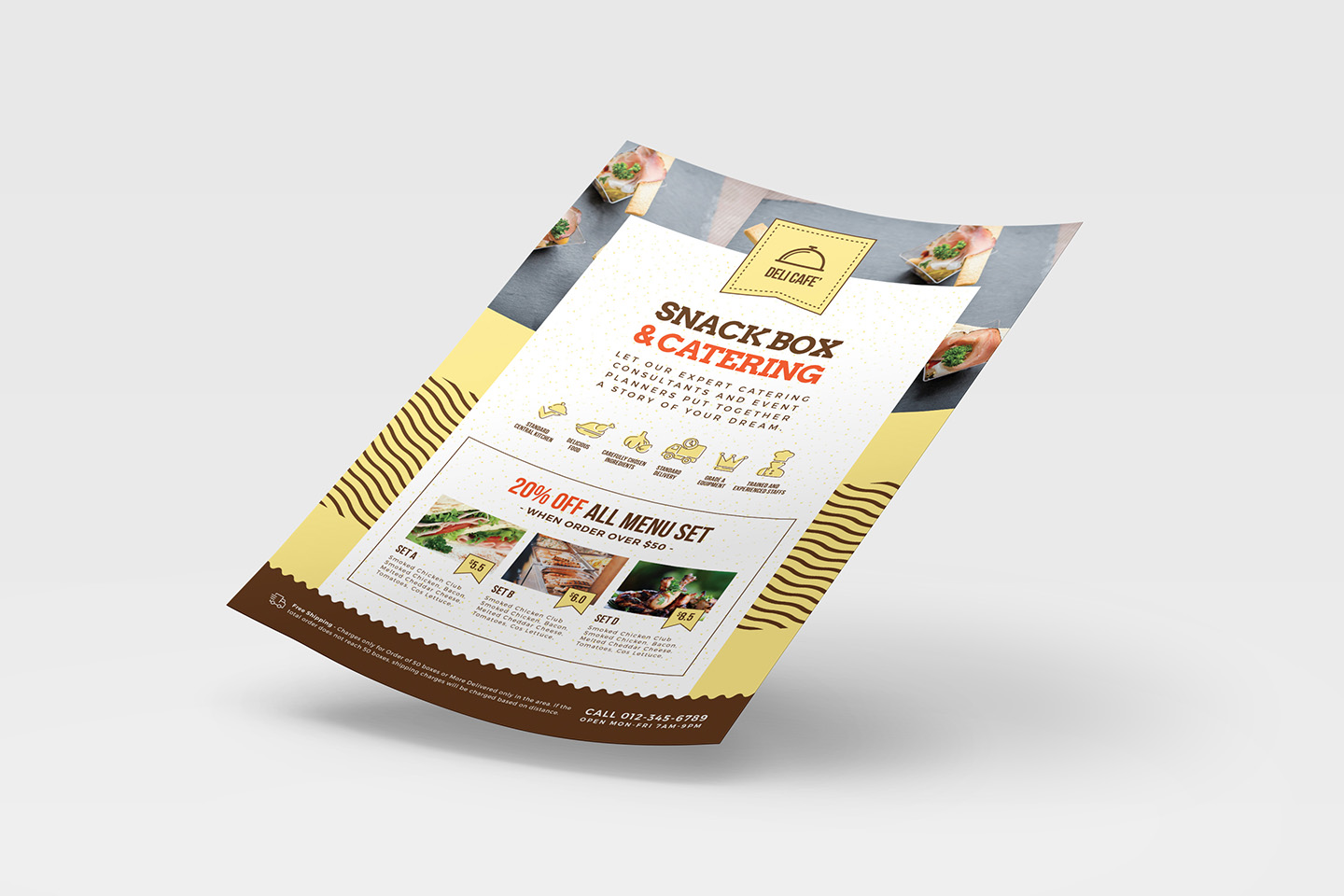 A4 Catering Service Poster Template example image 3