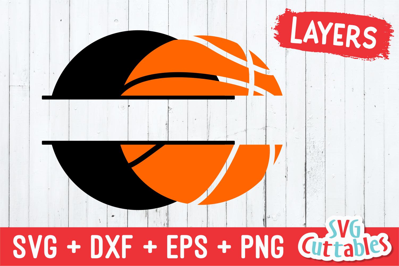 Basketball SVG   Split Basketball example image 3