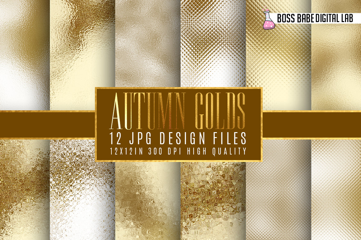 Gold and Bronze Autumn Foil Textures example image 1
