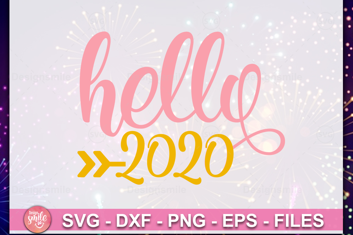 Hello 2020 SVG| New Year SVG| New Year 2020 SVG example image 1