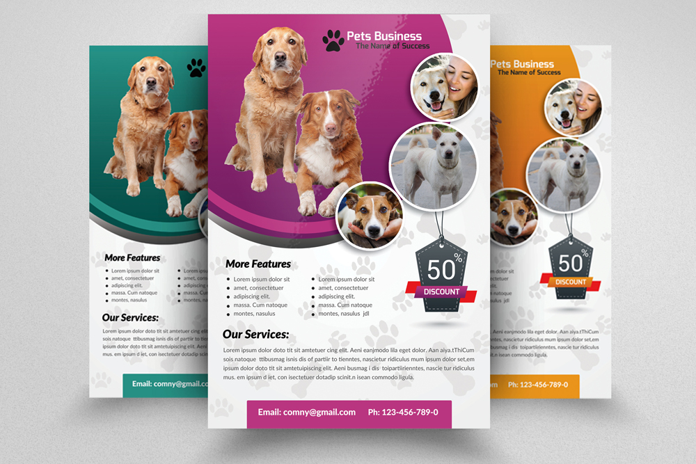 6 Pet Shop Business Flyers Bundle example image 6