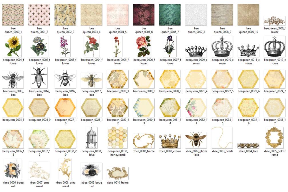 Queen BeeDigital Scrapbooking Kit example image 3
