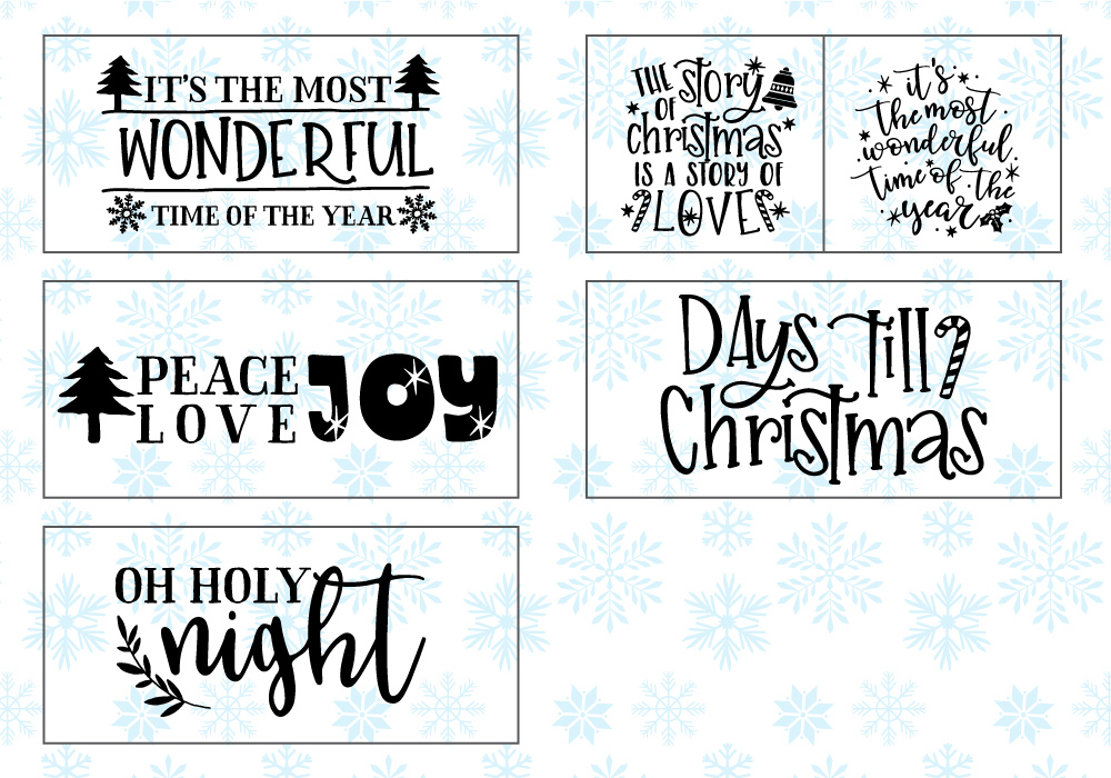 Happy Christmas SVG Cut File Bundle example image 5