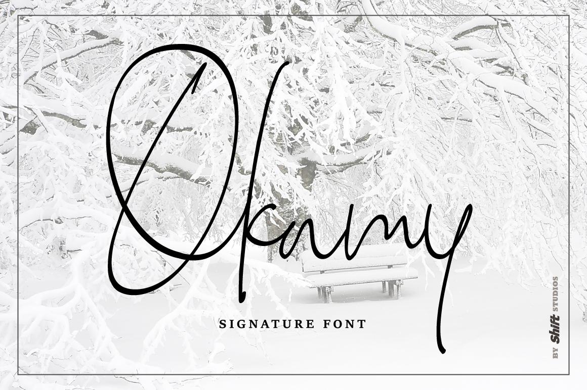 Okamy Typeface example image 1