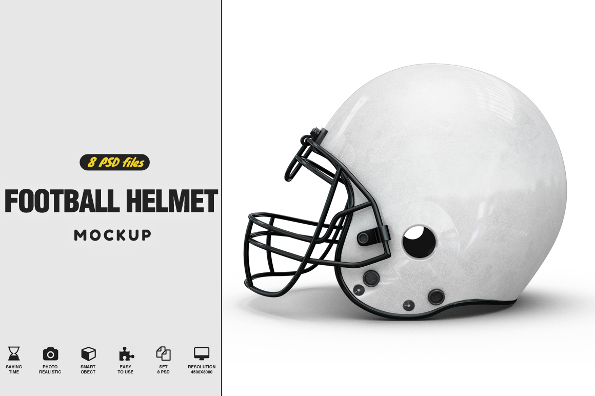 Football Helmet Mockup Example Image 1