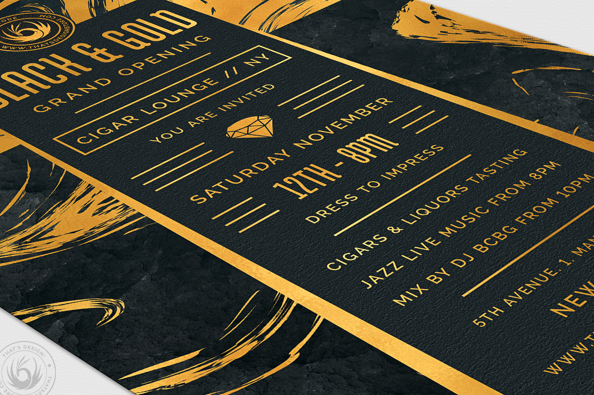 Black and Gold Flyer Template V12 example image 6