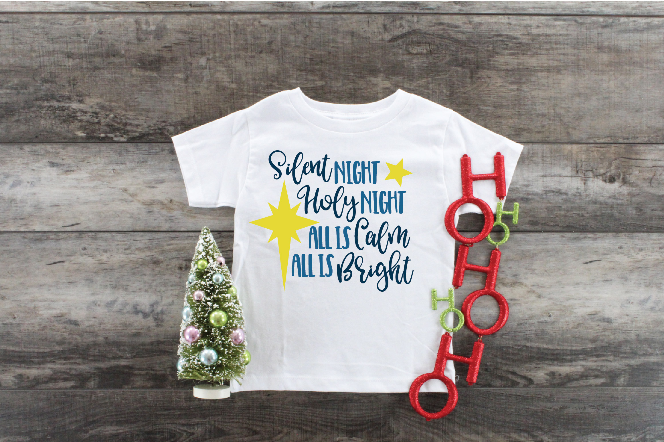 Silent Night SVG Cut File - Christmas SVG - DXF - PNG - EPS example image 7