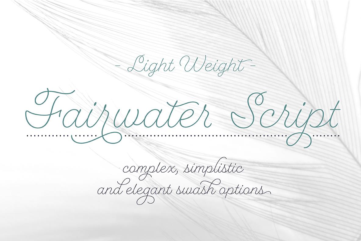 Fairwater Script Light example image 1