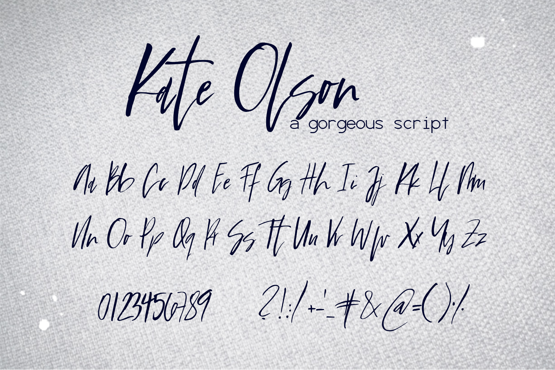 Kate Olson Font example image 9