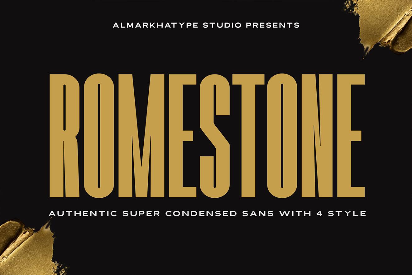 Romestone - Super Condensed Sans example image 1