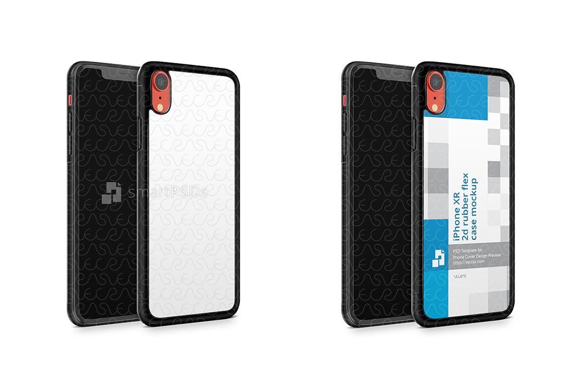 Apple iPhone XR 2d RubberFlex Mobile Case Design Mockup 2018 example image 2