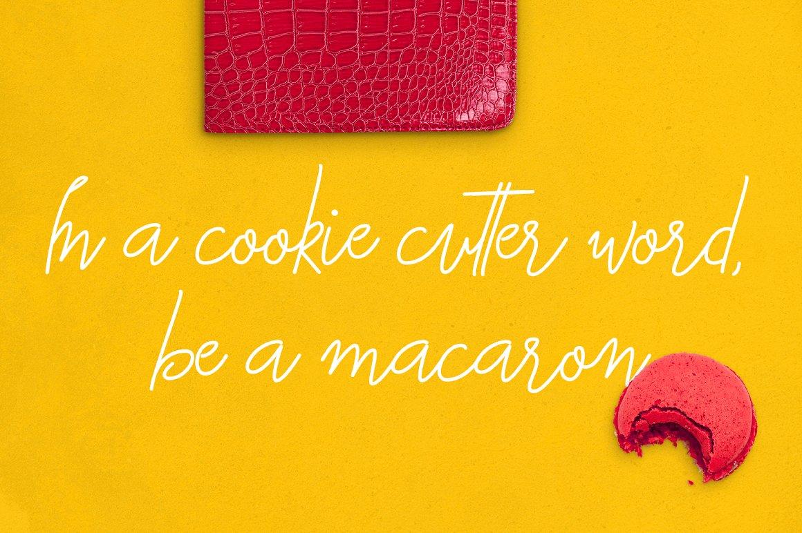 Macarons - Font and Extras / Cursive Font / Script Font / example image 5