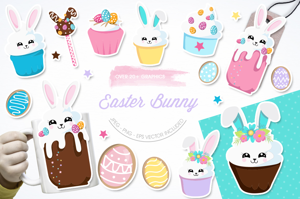 Easter Bunny graphic and illustrations example image 1
