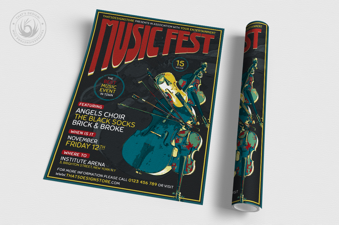 Music Festival Flyer Template V6 example image 3