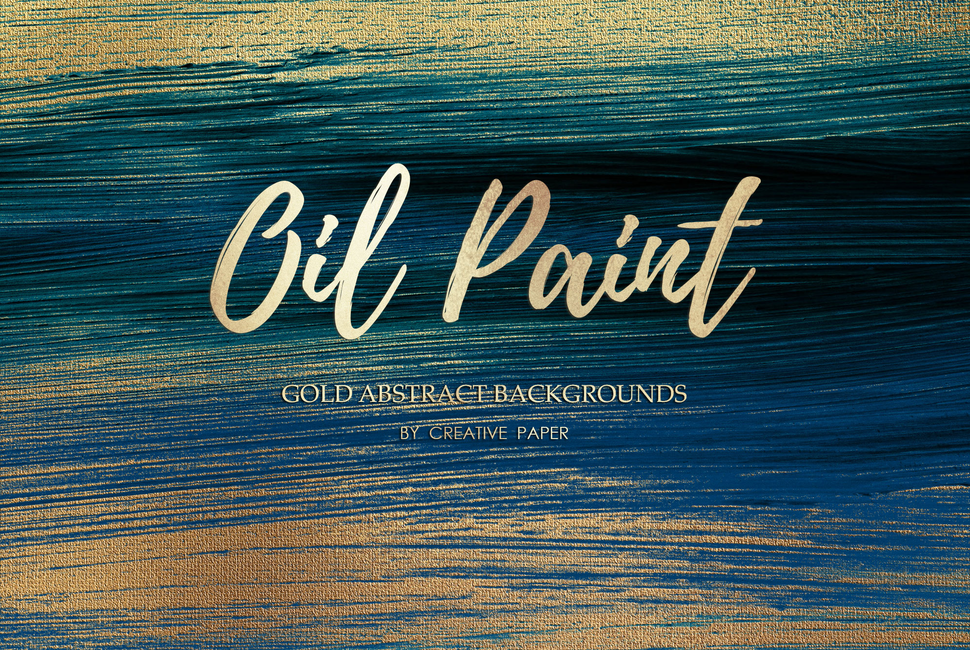Gold Oil Paint Backgrounds example image 11