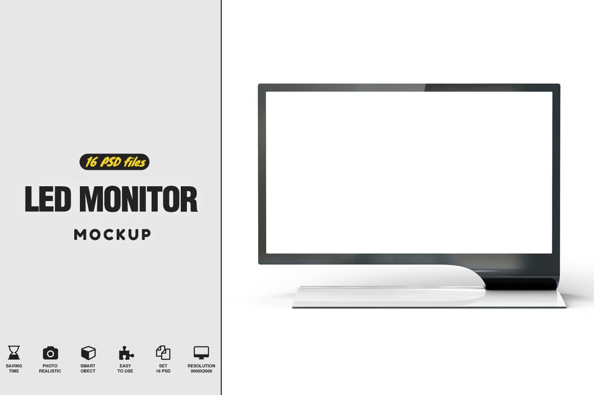 LED Monitor Mockup example image 1