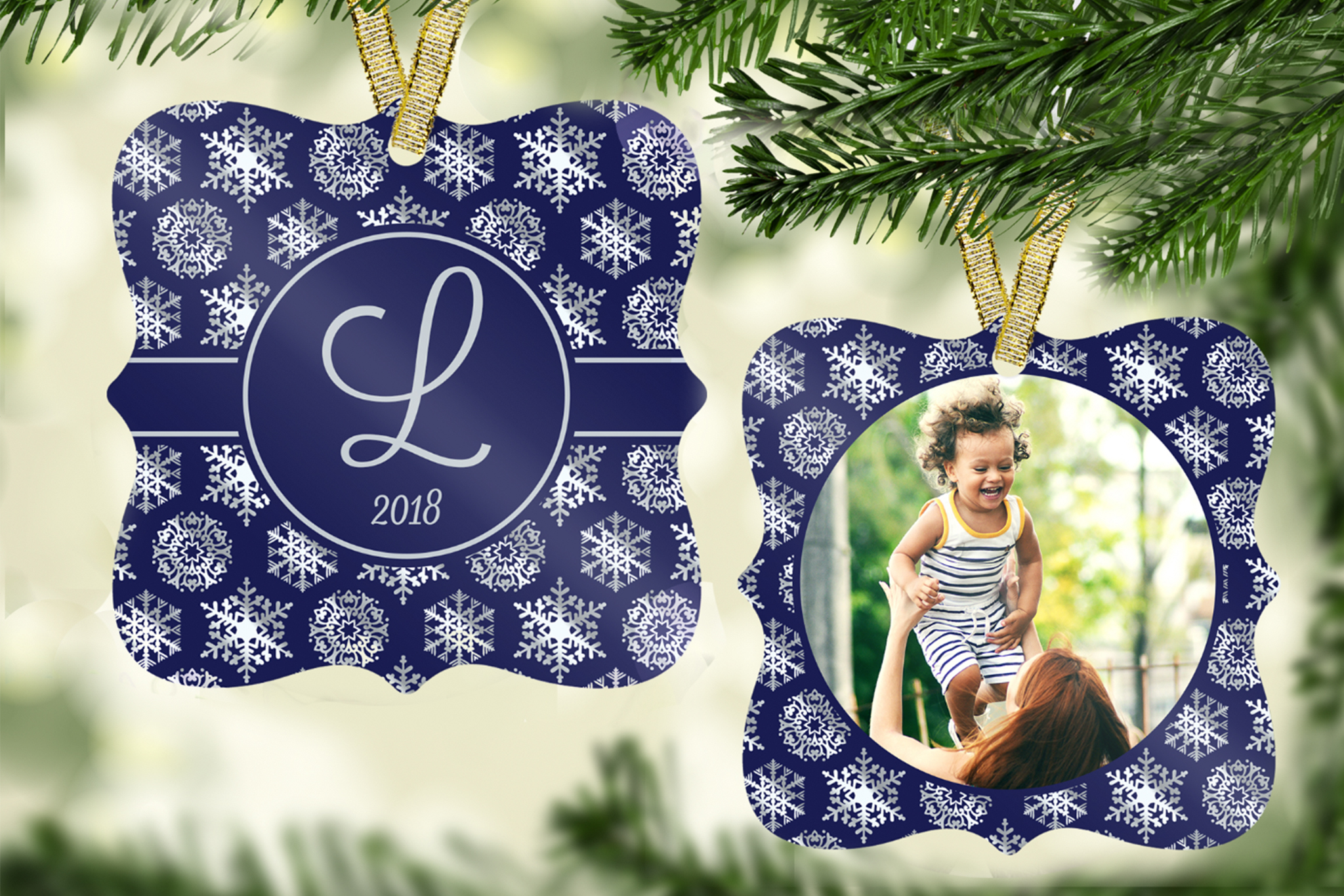Snowflake Ornament Template example image 1