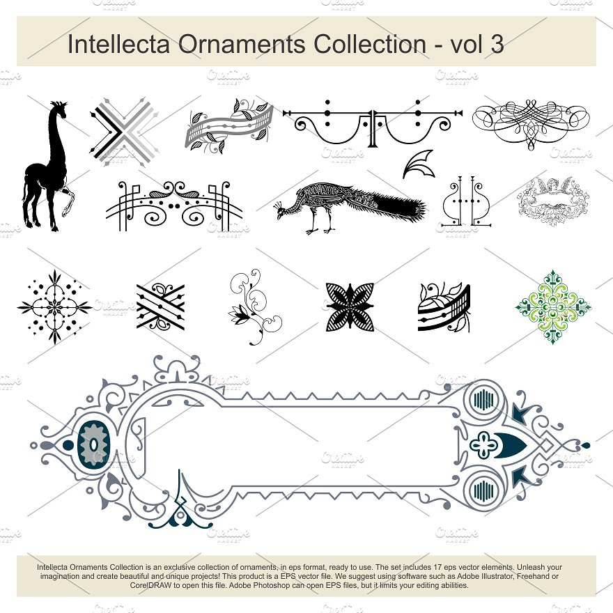 Intellecta Ornaments Collection 3 example image 1