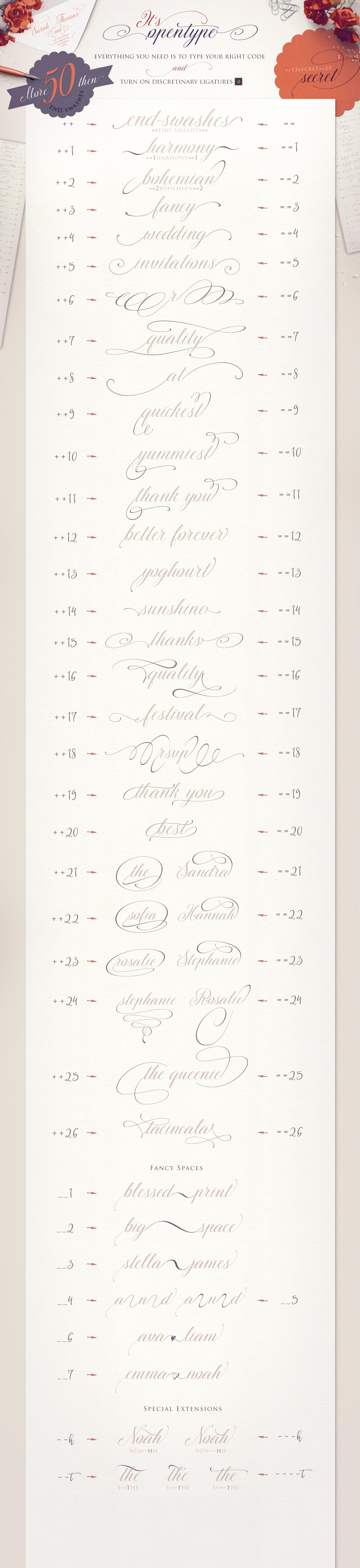 TheSecret Luxury Calligraphy Script example image 5