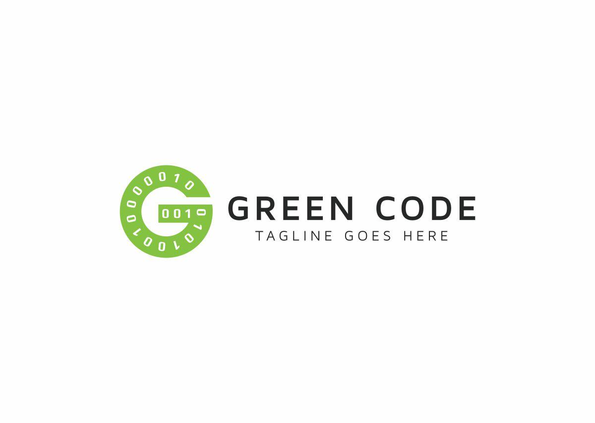 Green Code G Letter Logo example image 3