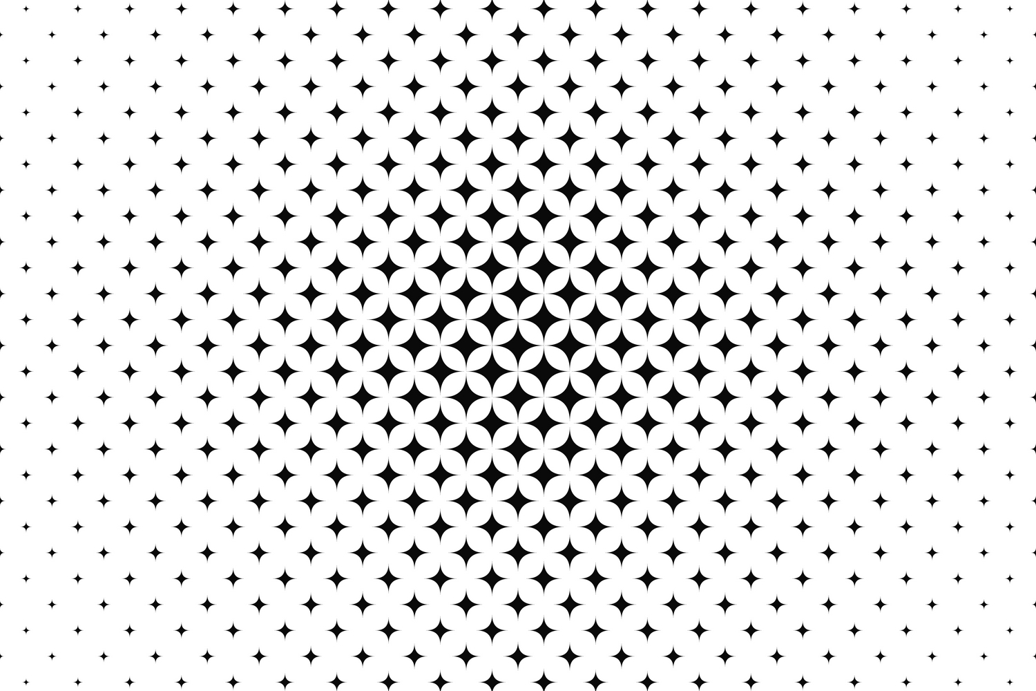 15 curved star patterns (EPS, AI, SVG, JPG 5000x5000) example image 2