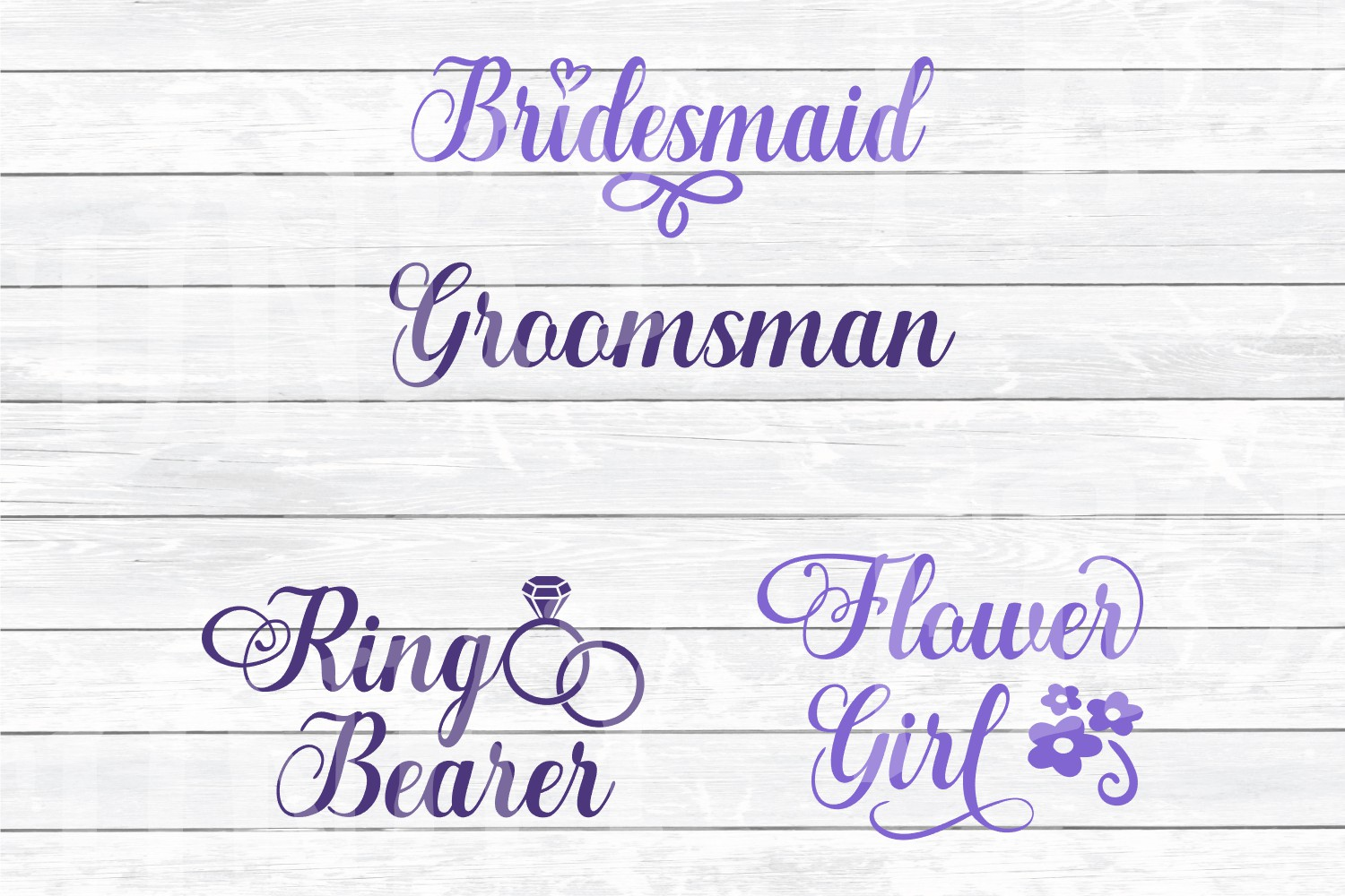 Wedding Party Design Bundle - SVG Cut Files for Crafters example image 5