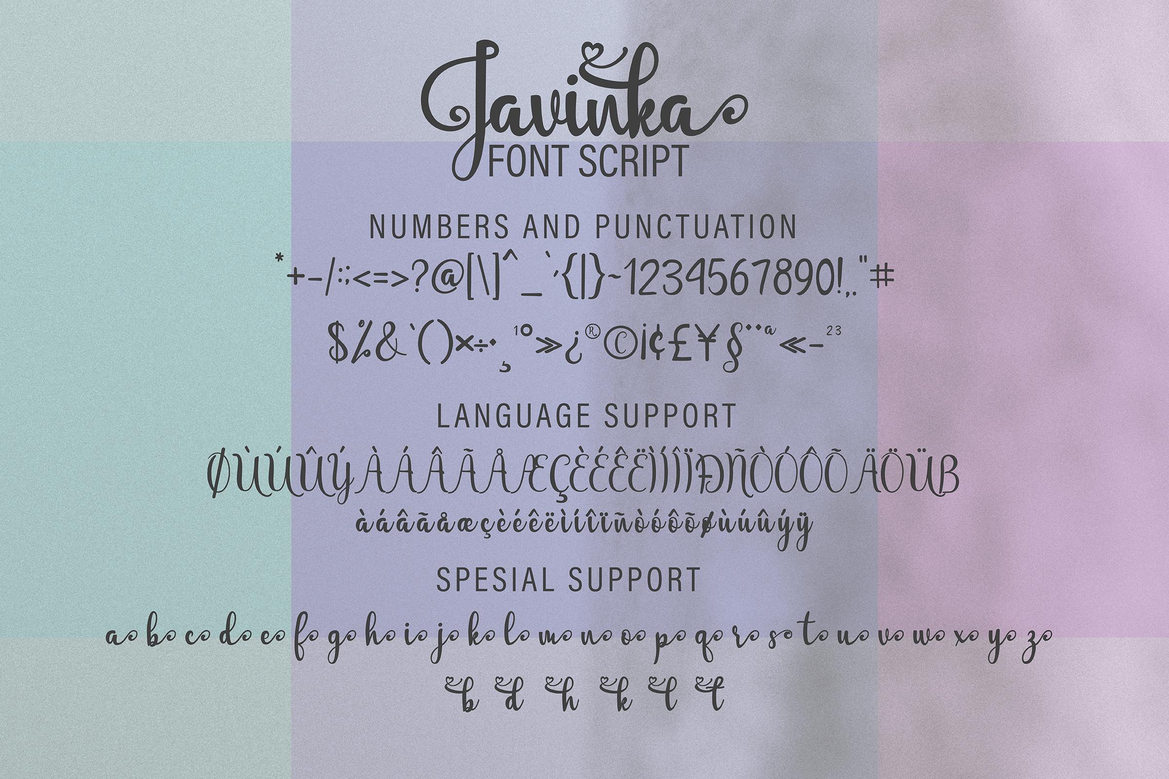 Javinka font example image 11