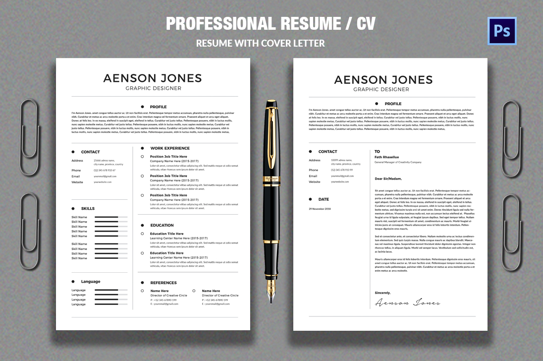 CV/Resume example image 1