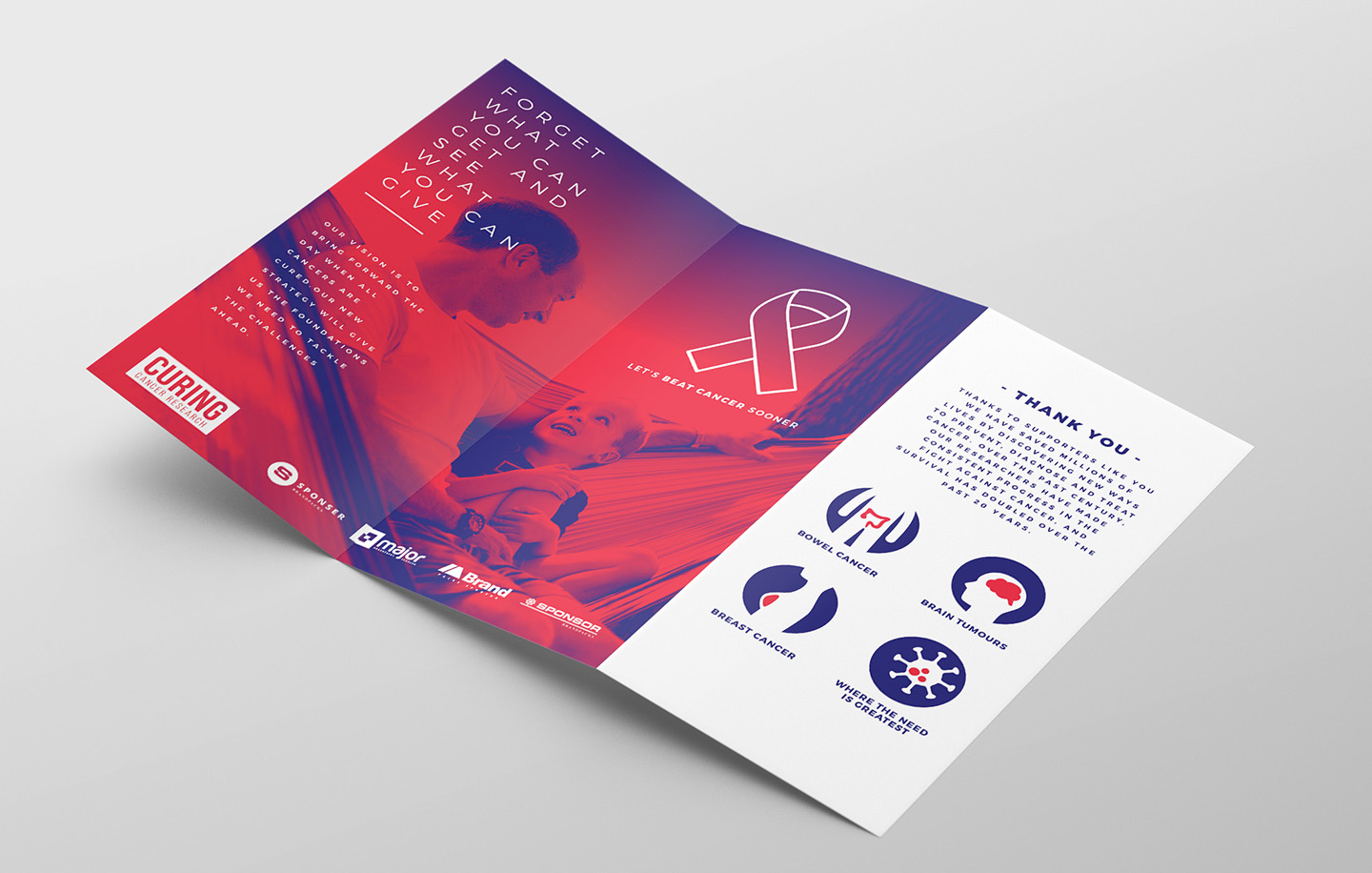Cancer Charity Tri-Fold Brochure Template example image 2