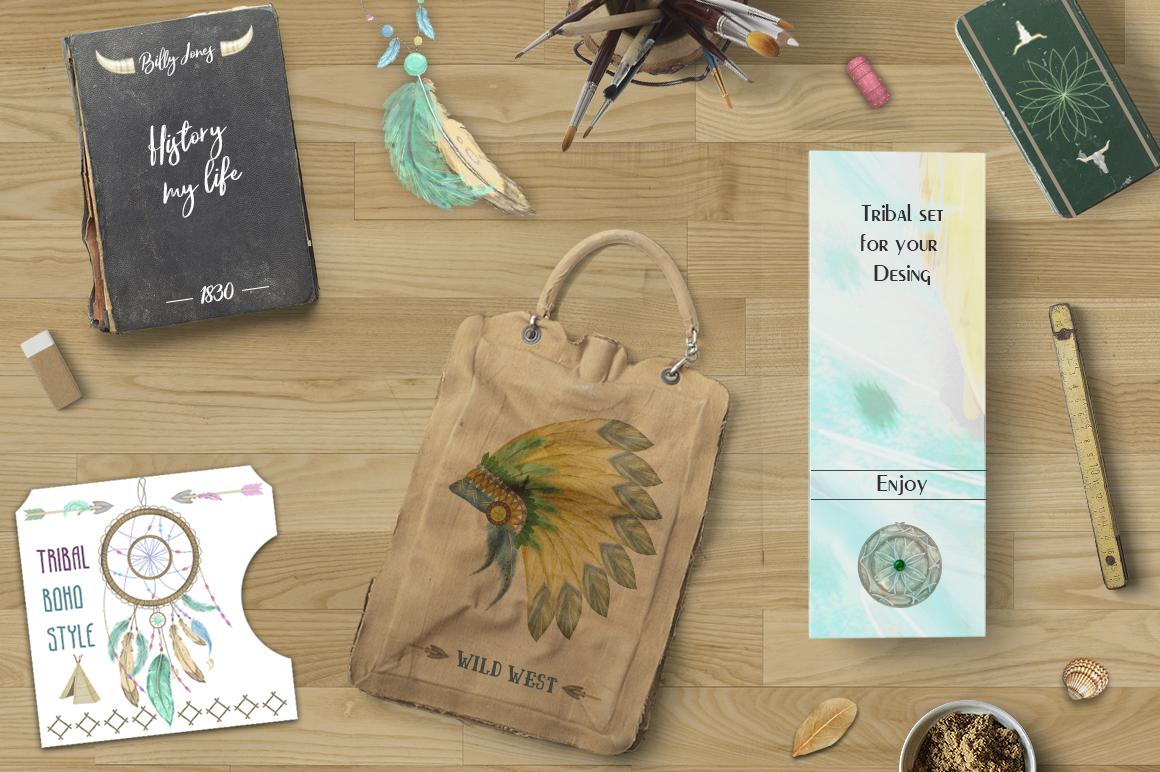 Dreamcatcher. Tribal Set example image 10