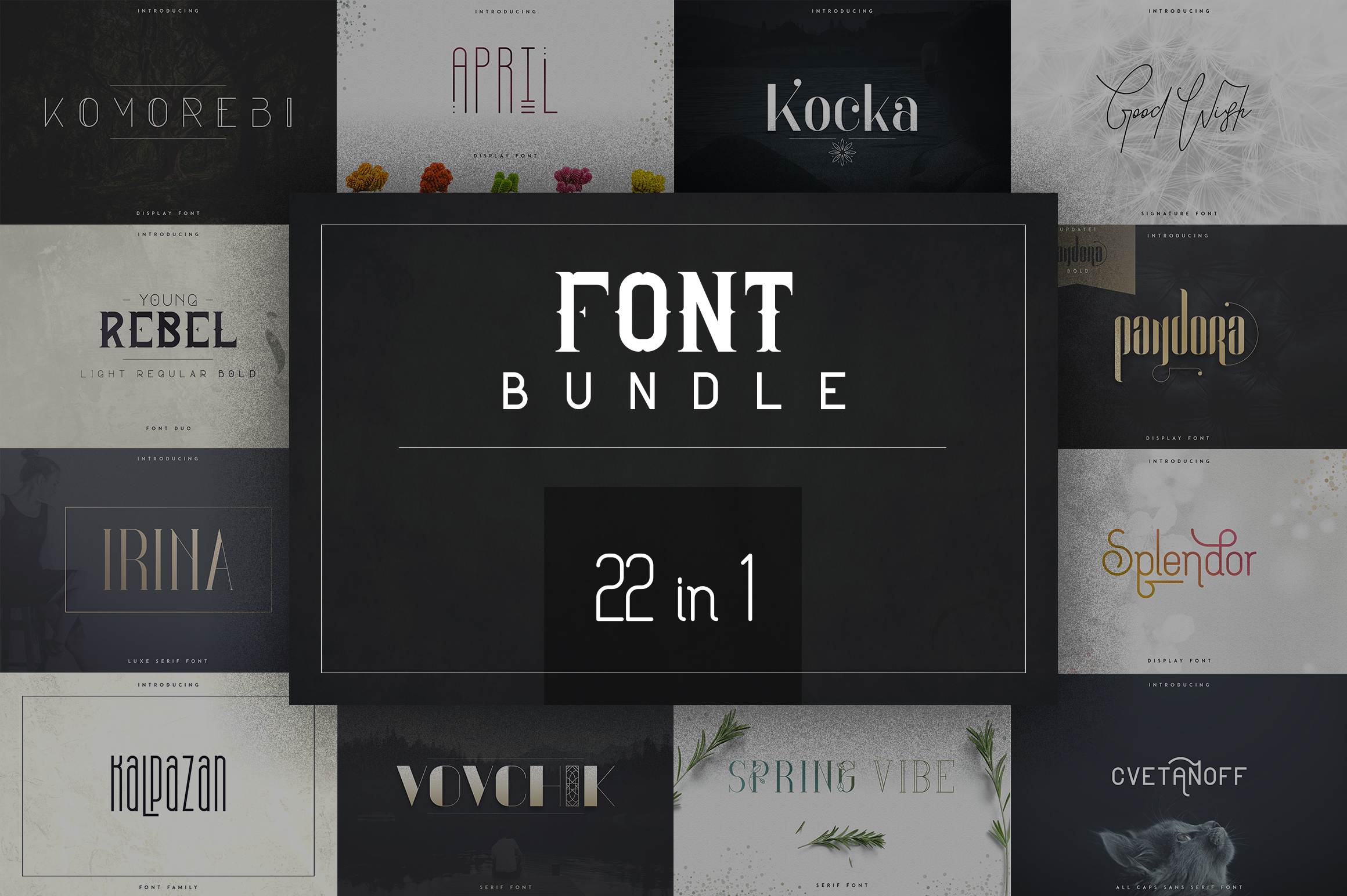 22in1 Legendary Font Bundle example image 1