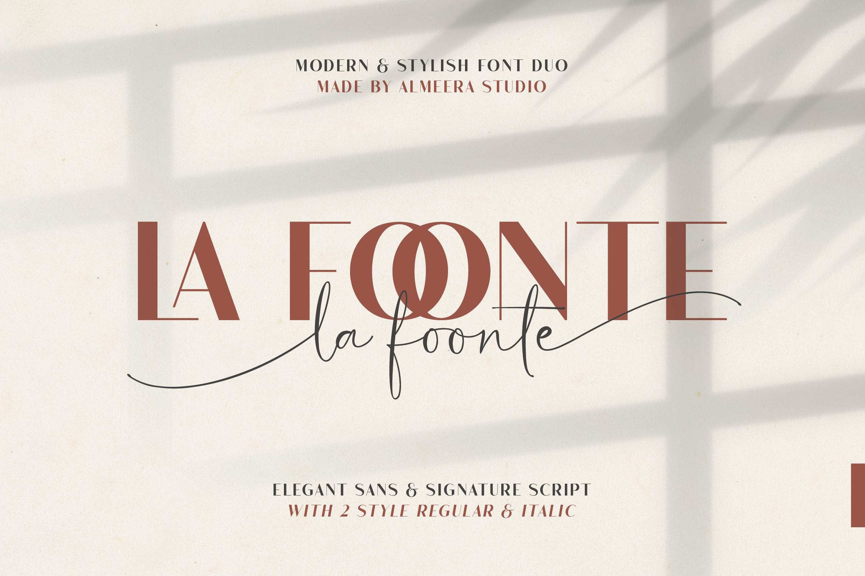 La Foonte   Sans Script Font Duo example image 1
