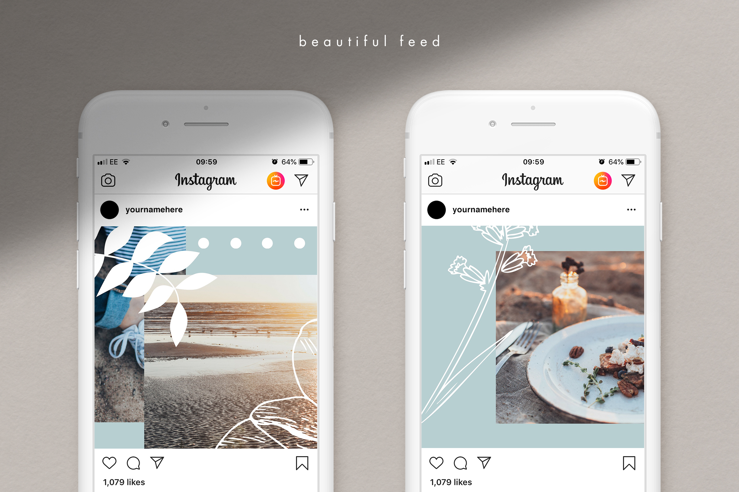 Instagram puzzle template for Canva example image 4
