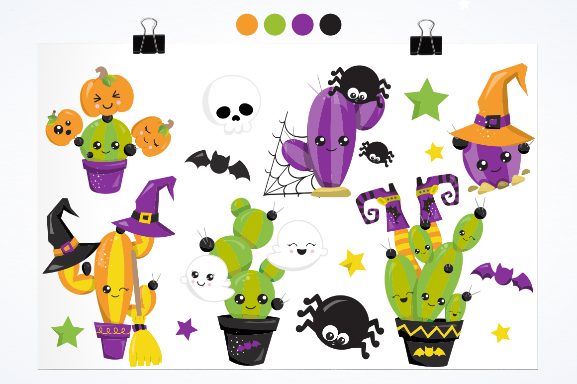 Halloween Pots graphic and illustrations example image 3