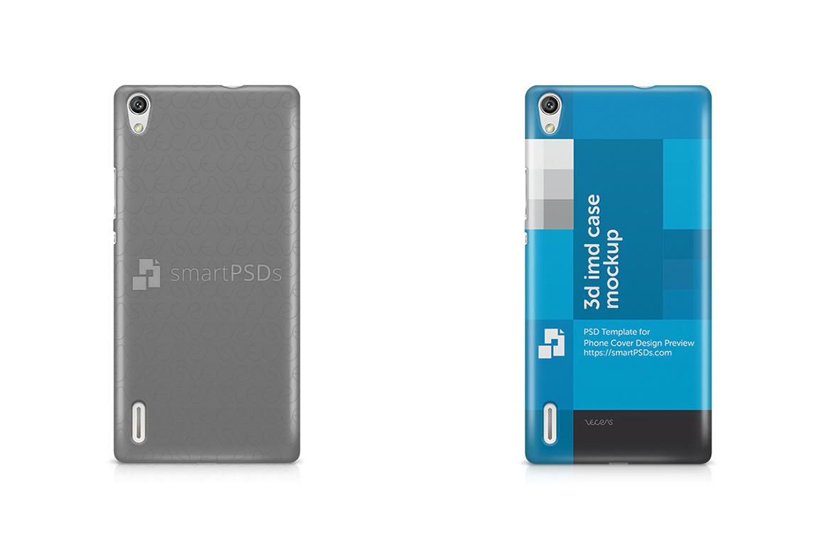 Huawei Ascend P7 3d IMD Mobile Case Design Mockup 2014 example image 1