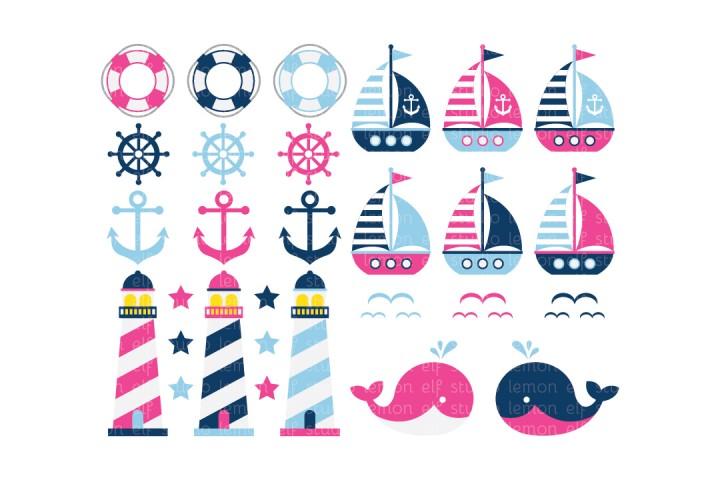 Sailing Away-Digital Clipart (LES.CL13B) example image 1