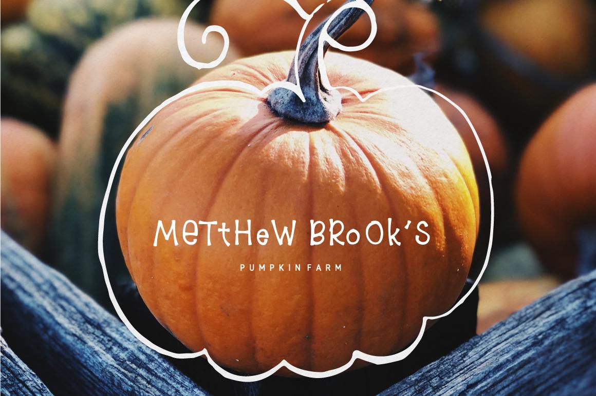 8$ Pumpkin Farm Font example image 3