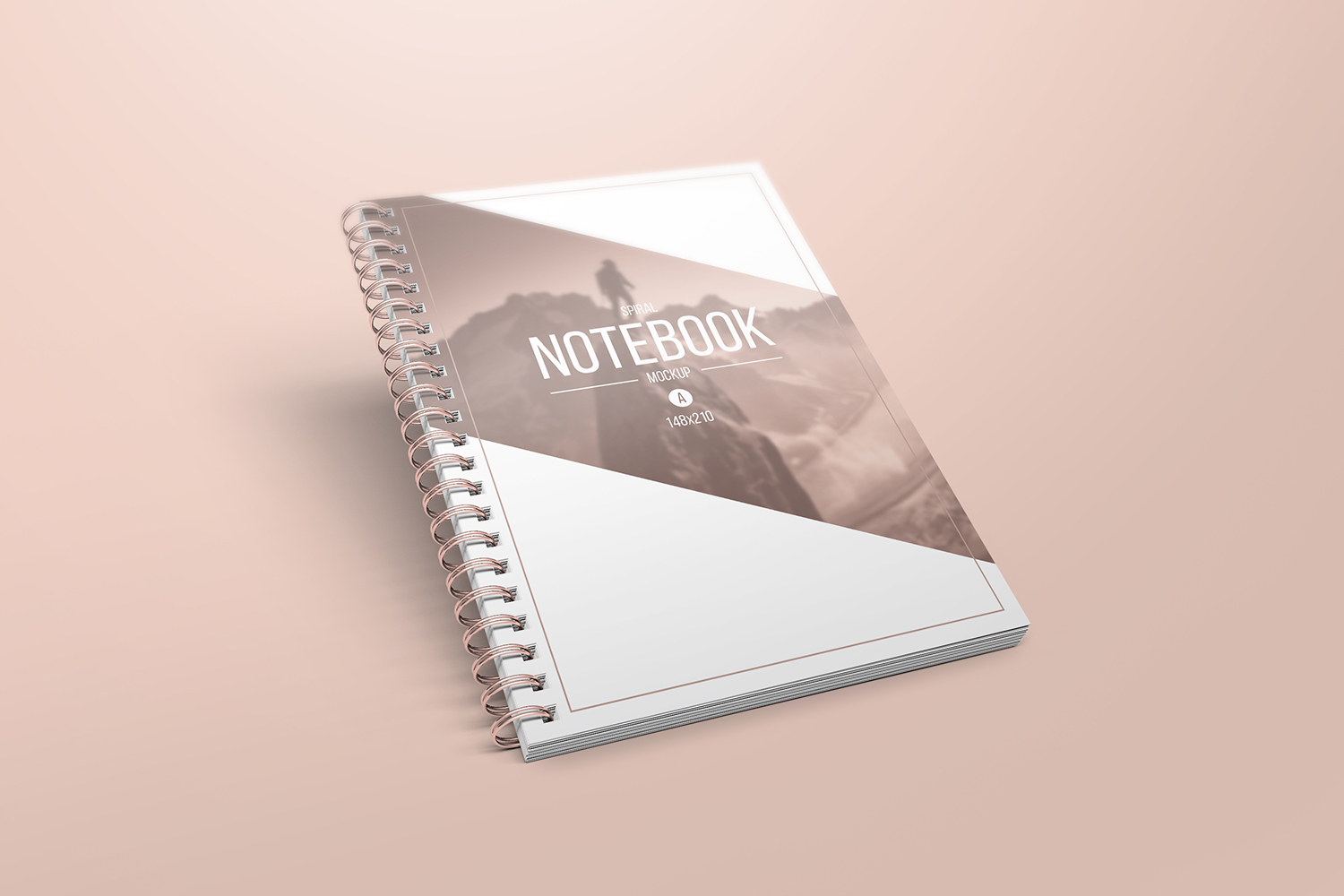 A5 Spiral Notebook Mockups example image 3