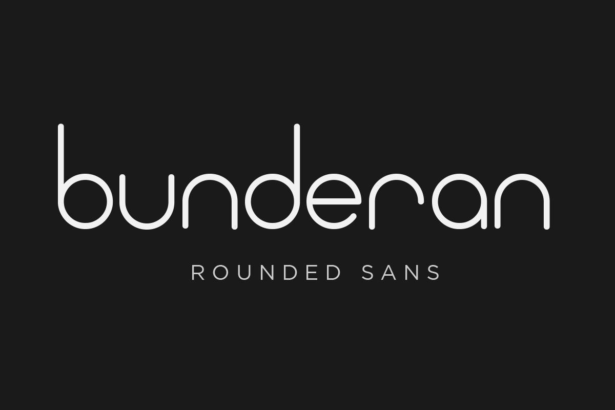 Bunderan Rounded Sans example image 1