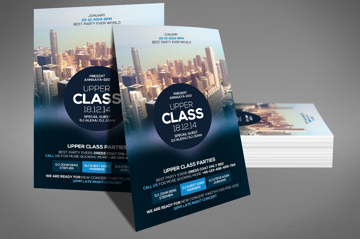 Upper Class Party Flyer example image 3
